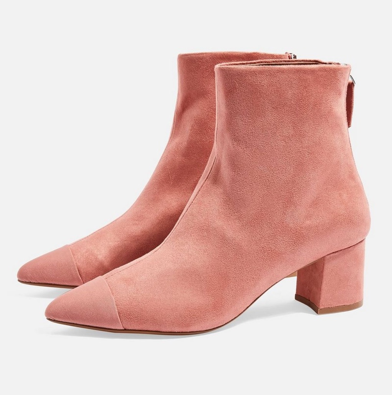 Topshop Bambi Toe Cap Boots in Pink $45.50 (previously $65)