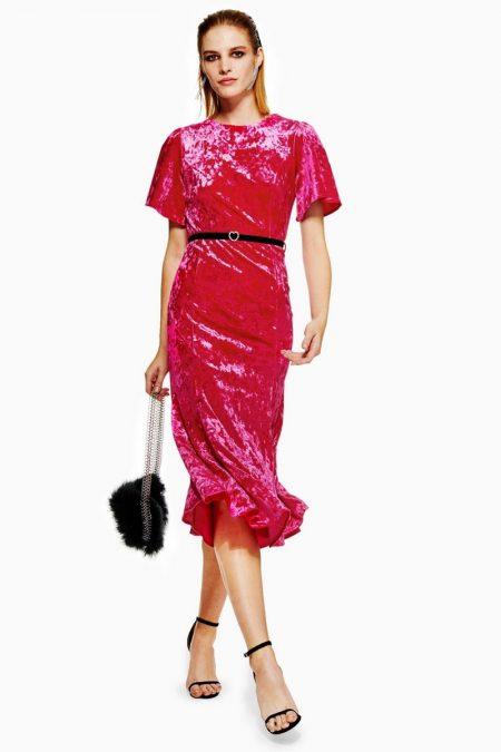 Topshop Velvet Belted Midi Dress $45 (previously $75)