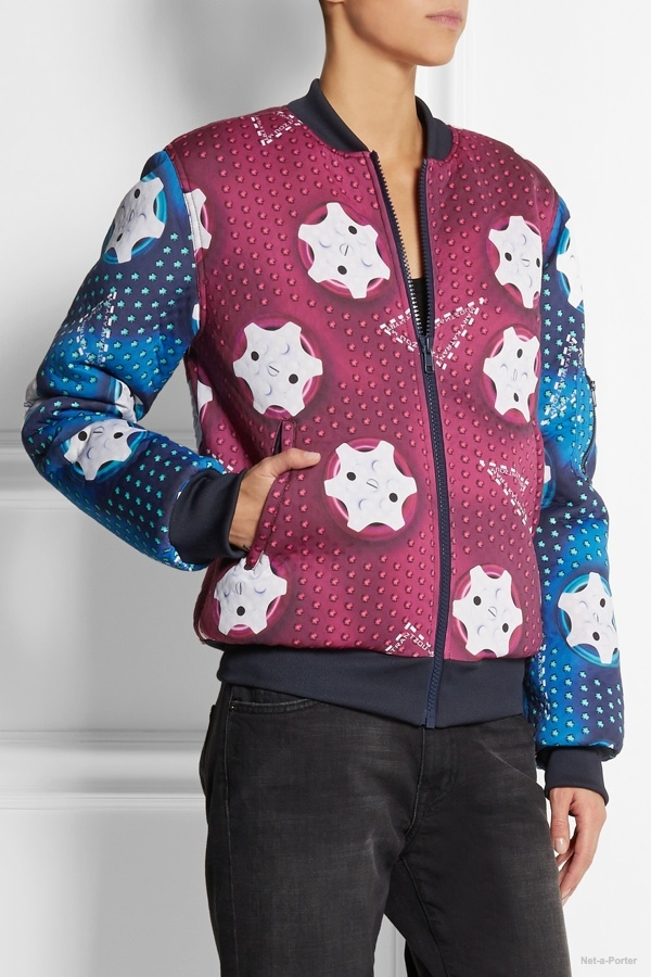 a6ad7891e8dc adidas Originals Mary Katrantzou Monster Marathon padded neoprene bomber  jacket available at Net-a-