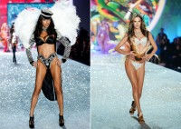 (L) Adriana Lima & (R) Alessandra Ambrosio at the 2013 Victoria's Secret Fashion Show. Could it be one of their last times as Angels? Photo courtesy of VS.
