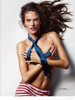 Alessandra Ambrosio Goes Topless for Lui Magazine Cover Story