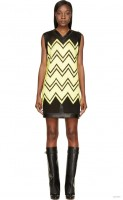 alexander-wang-black-yellow-mesh-embroidery-dress1