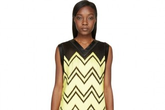 alexander-wang-black-yellow-mesh-embroidery-dress1