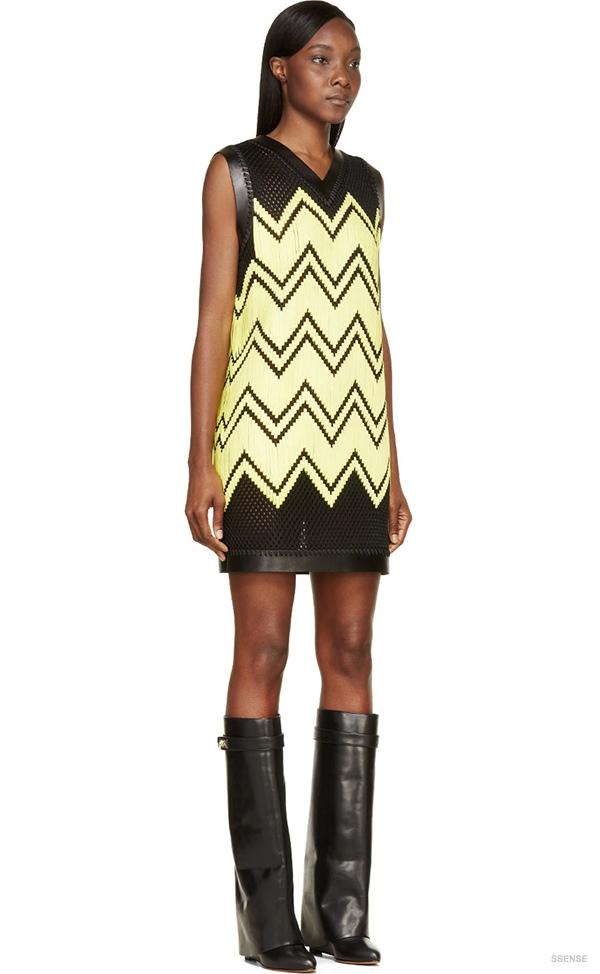 alexander-wang-black-yellow-mesh-embroidery-dress2