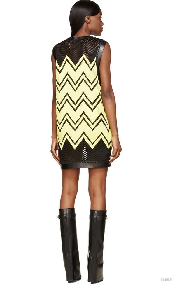 alexander-wang-black-yellow-mesh-embroidery-dress3