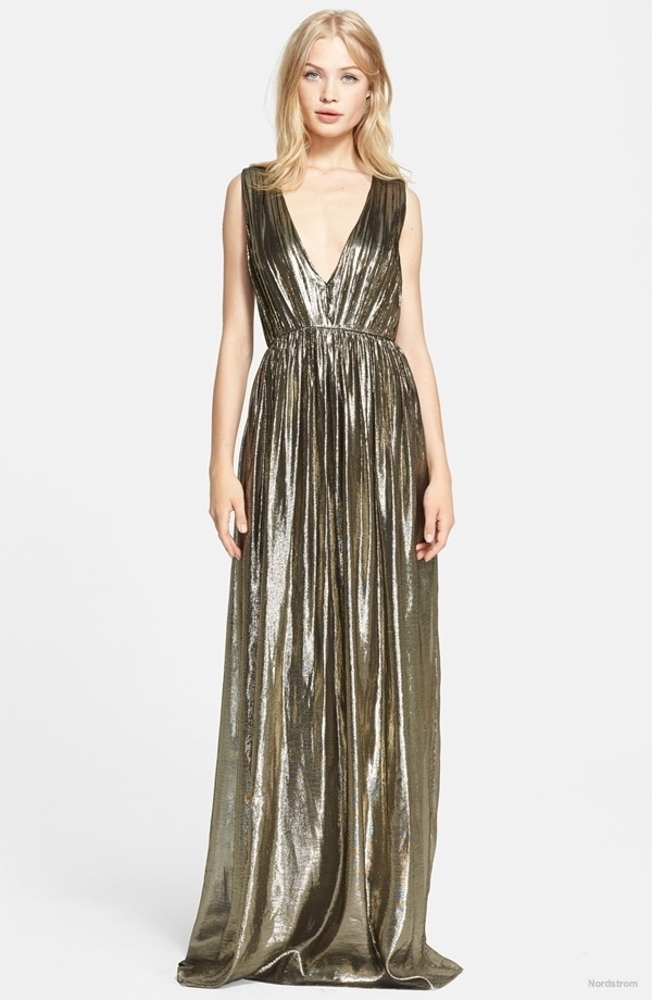 alicia-olivia-issa-pleated-lame-gown