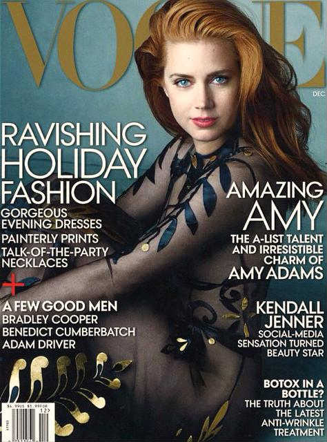 Amy Adams Wears Sheer Look on Vogue December 2014 Cover