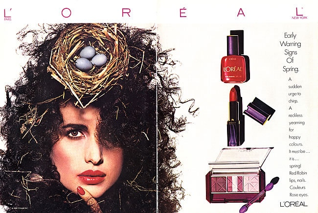 TBT: 1980s L'Oreal Makeup Ads with Andie Macdowell