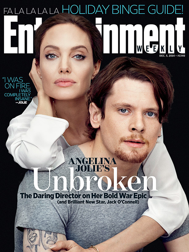 Angelina Jolie & Jack O'Connell Are 'Unbroken' for Entertainment Weekly Cover