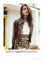 Carolina Thaler Wears Animal Prints for Glamour UK by Naomi Yang