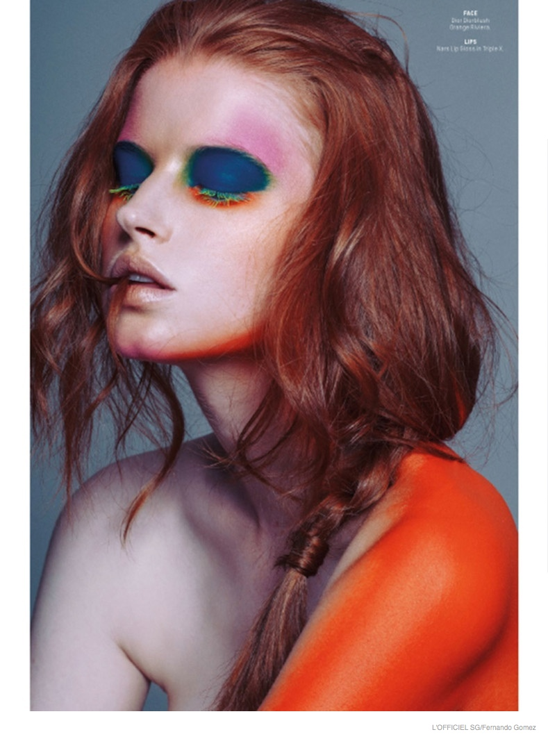 Arty Beauty: Helene Hammer by Fernando Gomez for L'Officiel Singapore