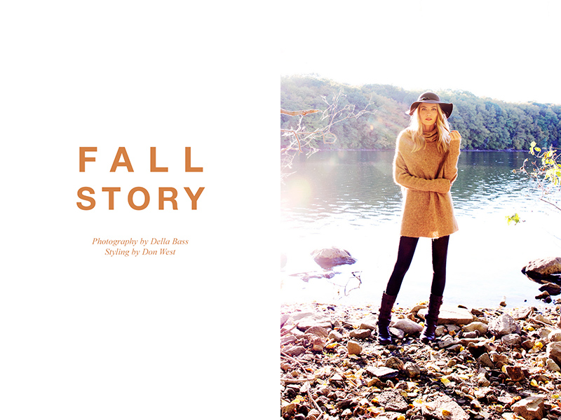"FGR Exclusive | Barbara Berger by Della Bass in ""Fall Story"""