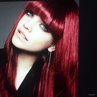 Barbara Palvin rocks bangs and a fiery red hair color for upcoming L'Oreal campaign