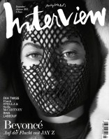 Beyonce Gets Masked for Interview Germany December/January 2015 Cover