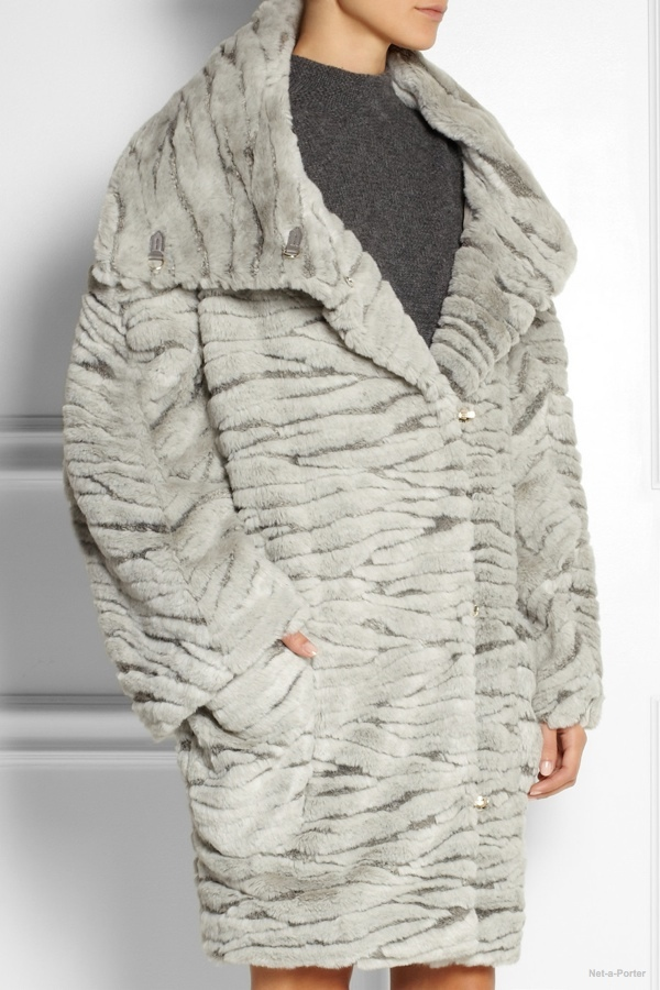 Chalayan oversized faux fur coat available at Net-a-Porter for $1500