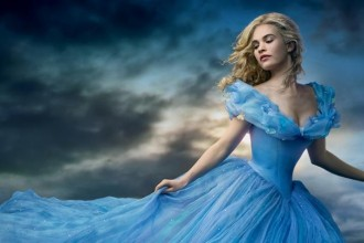 """Lily James stars in the """"Cinderella"""" 2015 movie poster. Photo: Disney"""