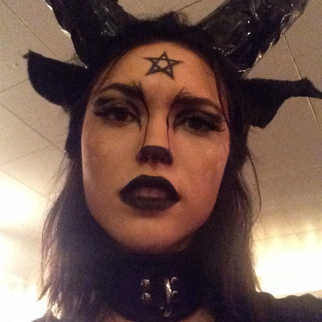 Cora Keegan got dark for her costume