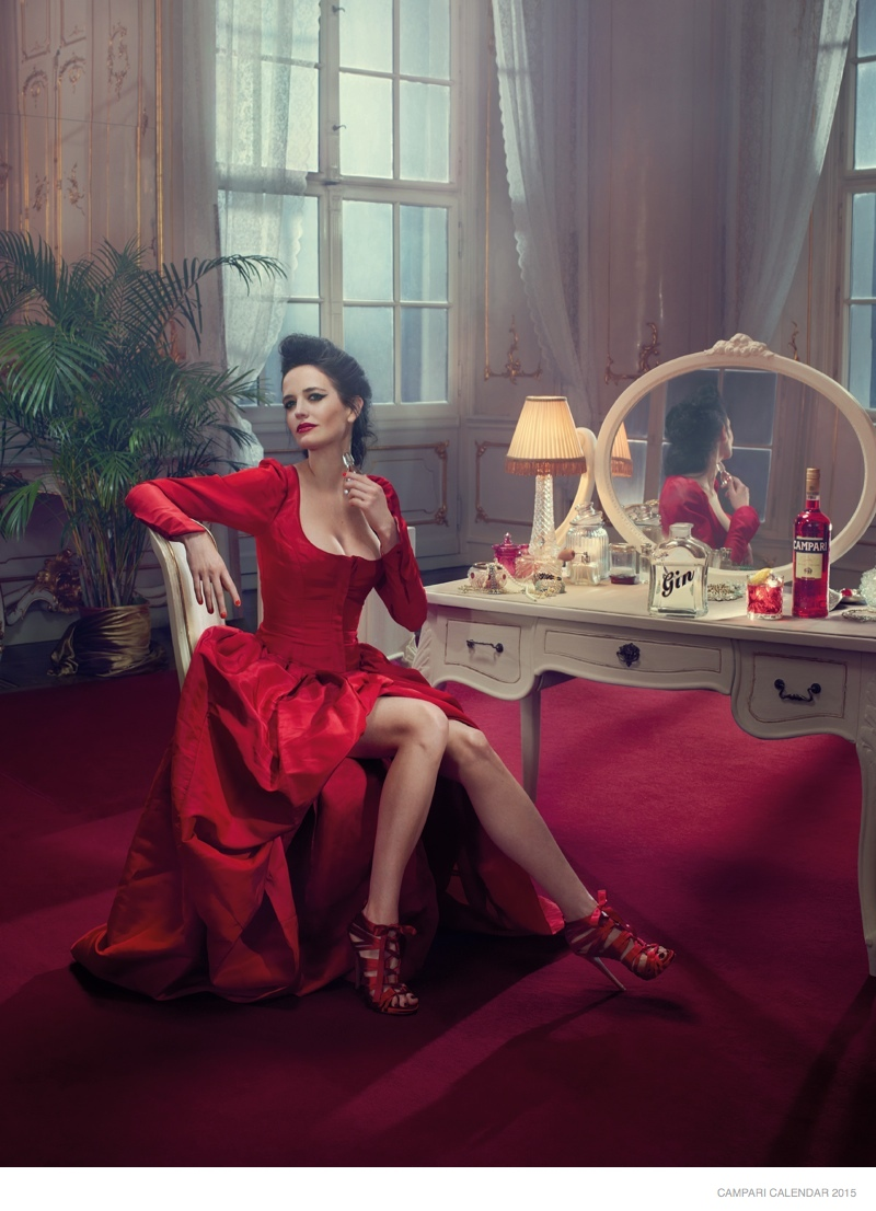 Eva Green Has Us Seeing Red in the 2015 Campari Calendar