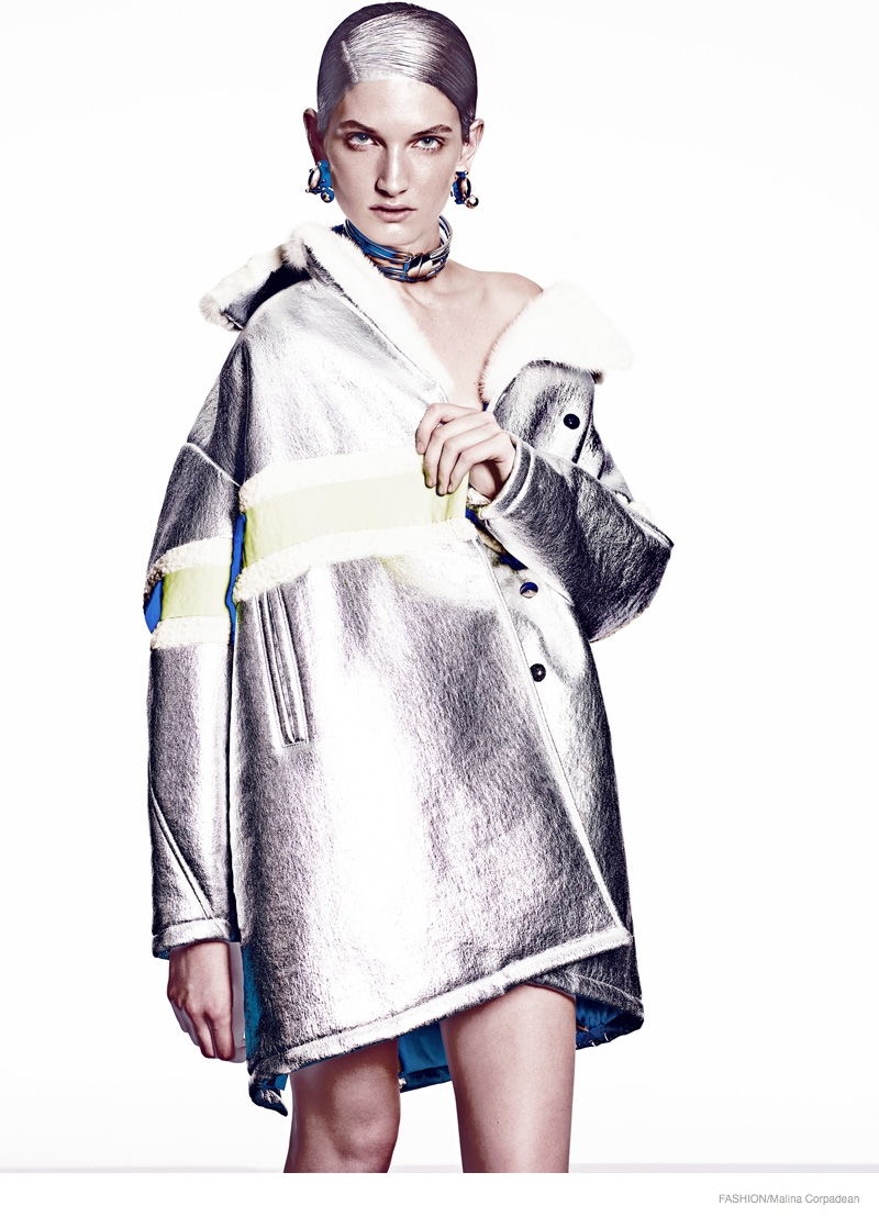 Carly Moore Models Futuristic Style for FASHION by Malina Corpadean