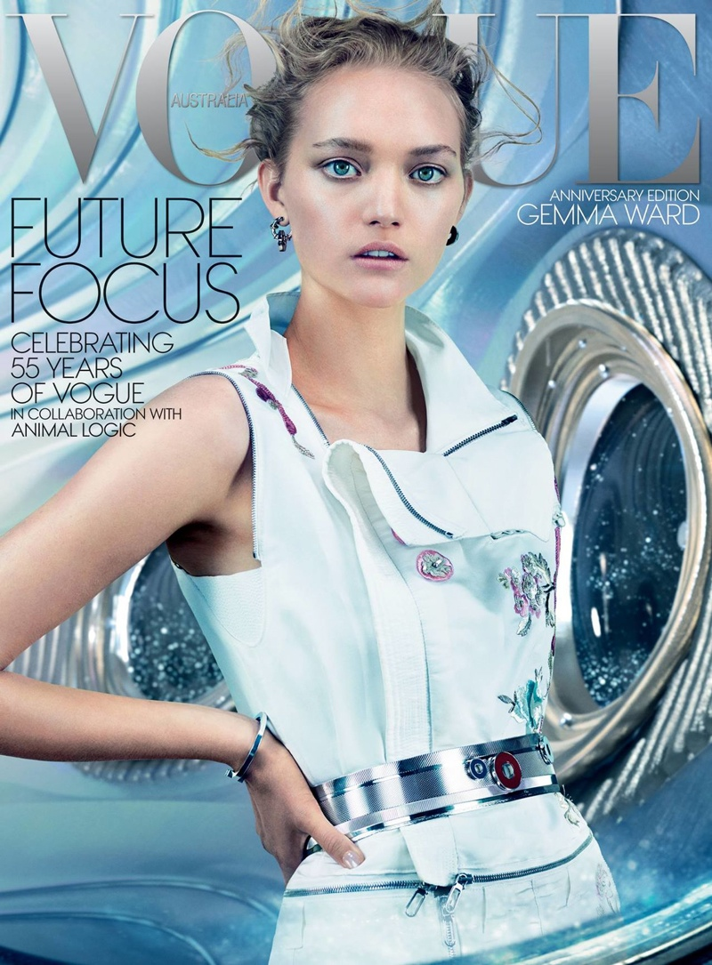 Gemma Ward Stars on Vogue Australia December 2014 Cover, See a Preview!