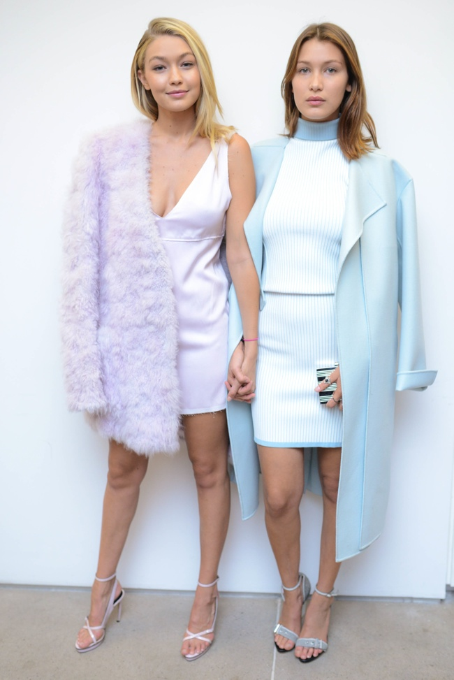 Bella & Gigi Hadid at Calvin Klein event earlier this year. Photo courtesy of label.