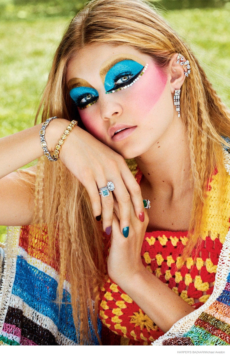Gigi Hadid Wears Couture Style in Carine Roitfeld Shoot for Harper's Bazaar