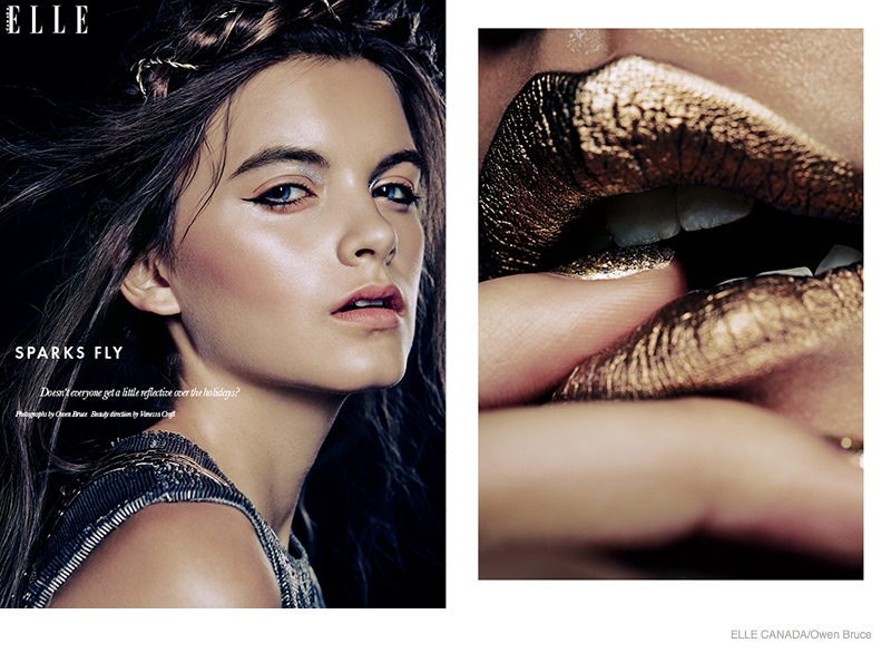 Emma Amp Ashley Model Glittery Holiday Makeup Looks In Elle