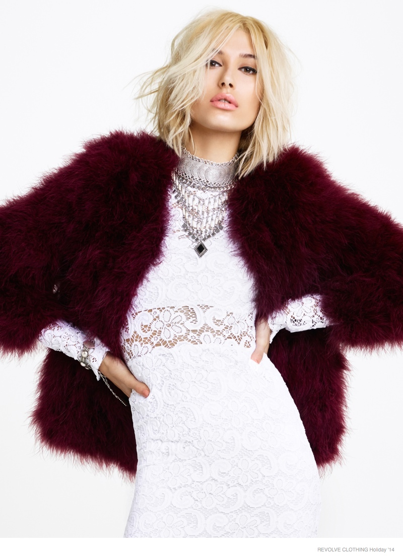 Hailey Baldwin for REVOLVE Holiday 2014 Campaign