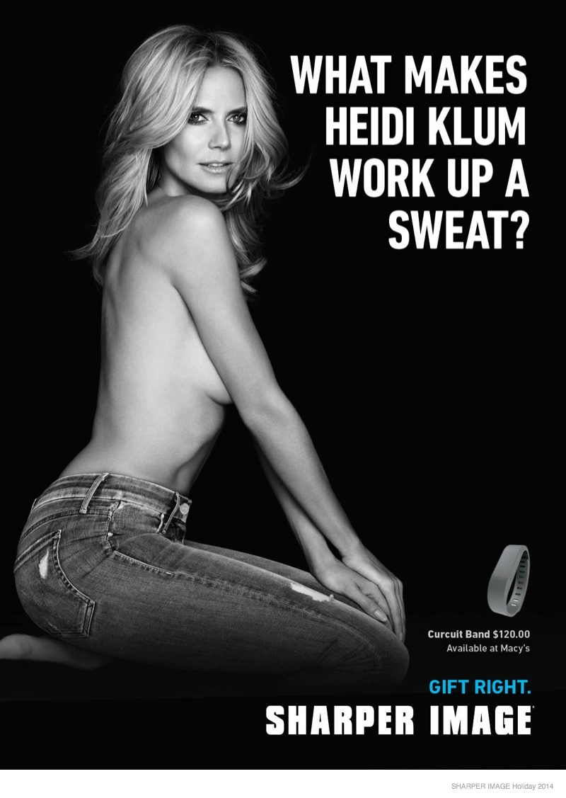 Heidi Klum is the Face (and Body) of Sharper Image This Holiday Season
