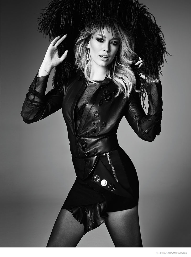 Hilary Duff Gets Glam for Elle Canada December 2014 Cover Story