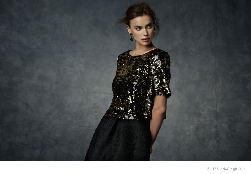 "Irina Shayk Shines in Party Looks for SuiteBlanco's ""Night"" '14 Campaign"