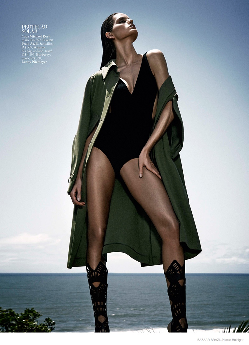 Izabel Goulart Has Legs for Days in Cover Story for Harper's Bazaar Brazil