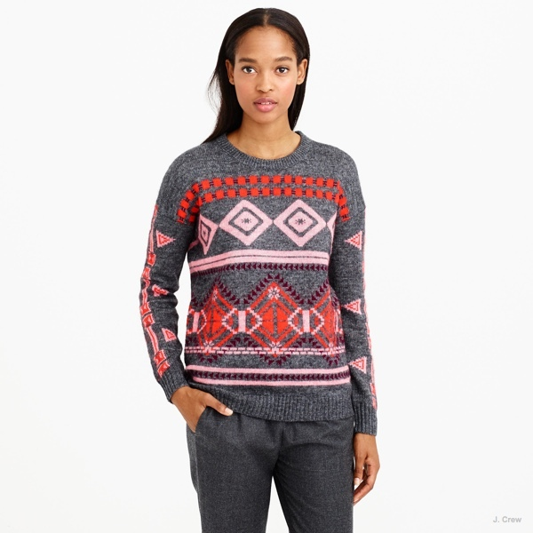 Abstract Fair Isle Sweater