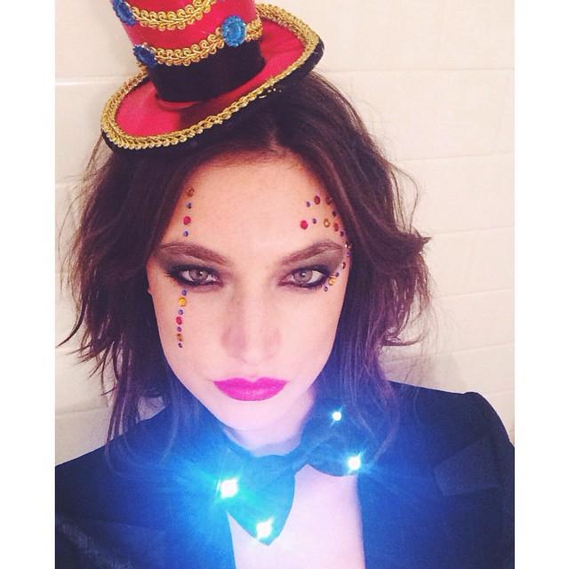 Jacquelyn Jablonski dressed like a ring master