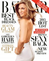 "Jennifer Aniston Covers Harper's Bazaar, Has ""More Fun Post-40"""