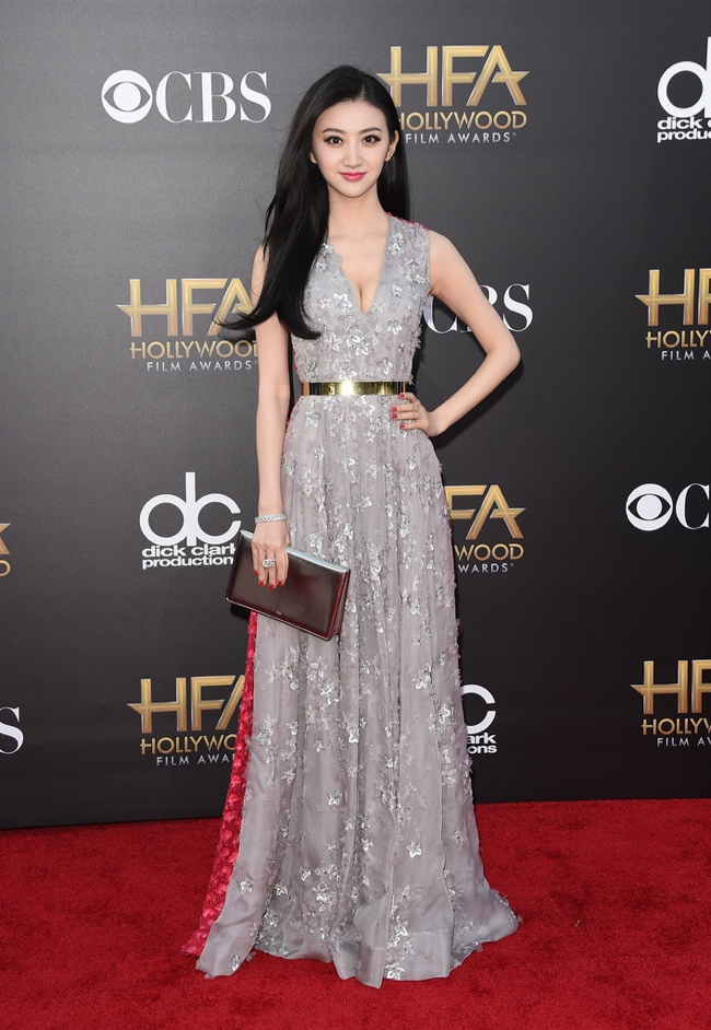 Jing Tian stunned in a Dior gown