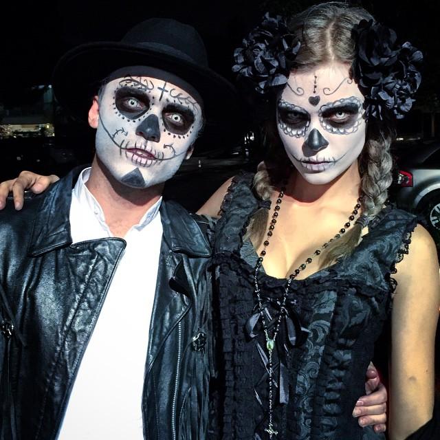 Josephine Skriver dressed like a skull candy