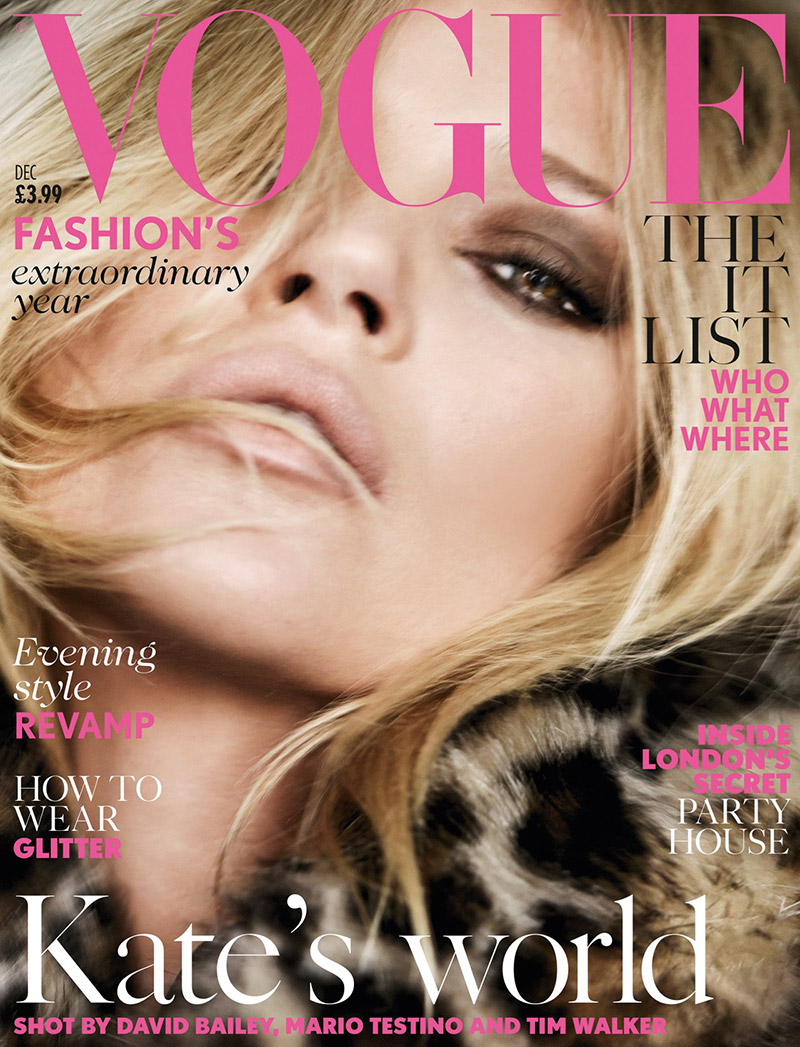 Kate Moss on Vogue UK December 2014 Cover