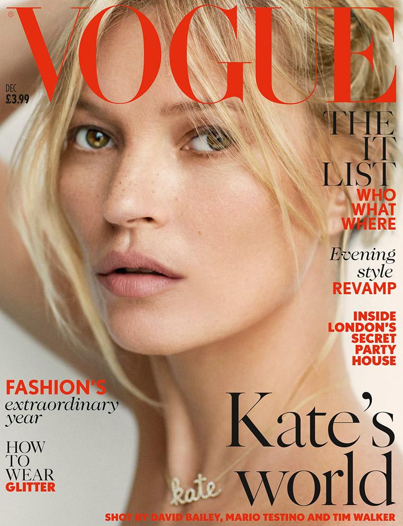 Kate Moss Lands Vogue UK December 2014 Cover