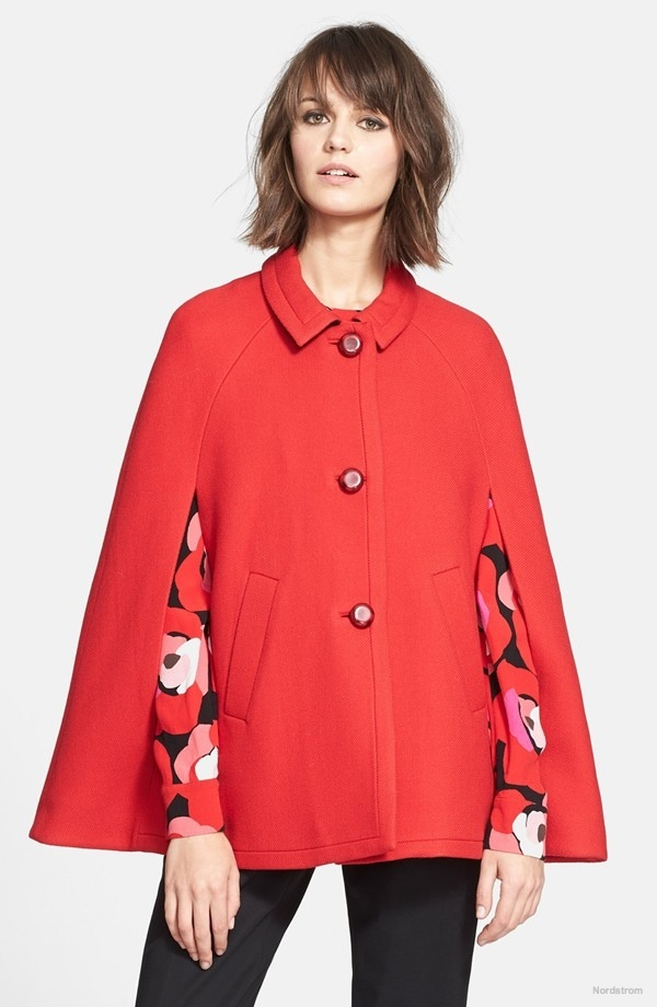 kate spade new york Wool Capelet available at Nordstrom for $339.00