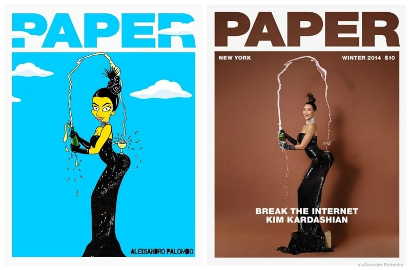Kim Kardashian's Paper Magazine Photos Get Simpsonized