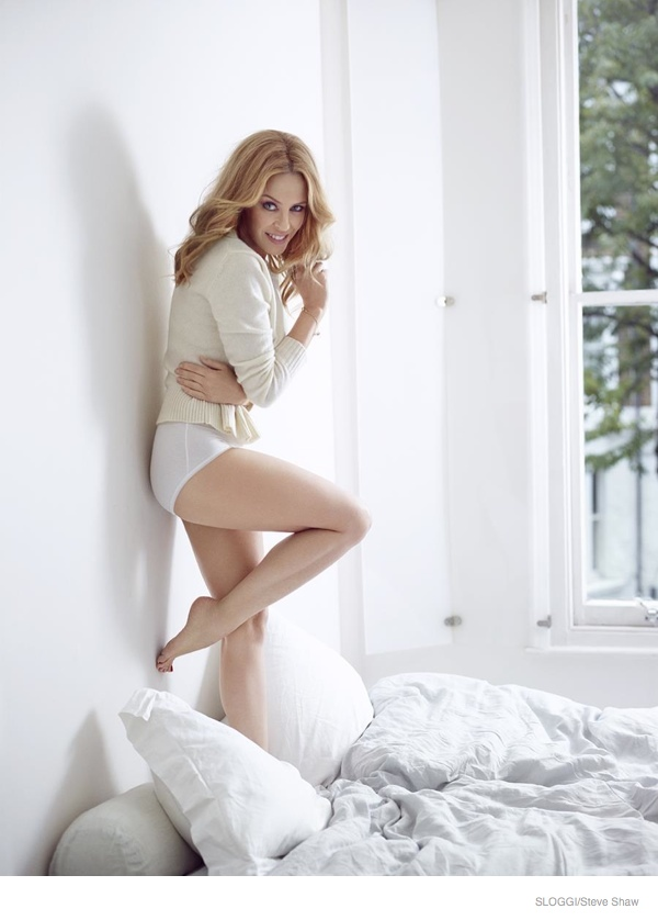 Kylie Minogue Poses for Sloggi Underwear F/W 2014 Campaign