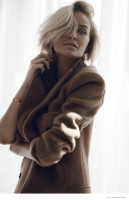 Lara Bingle Wears Neutral Style in Elle.com Shoot by Margaret Zhang