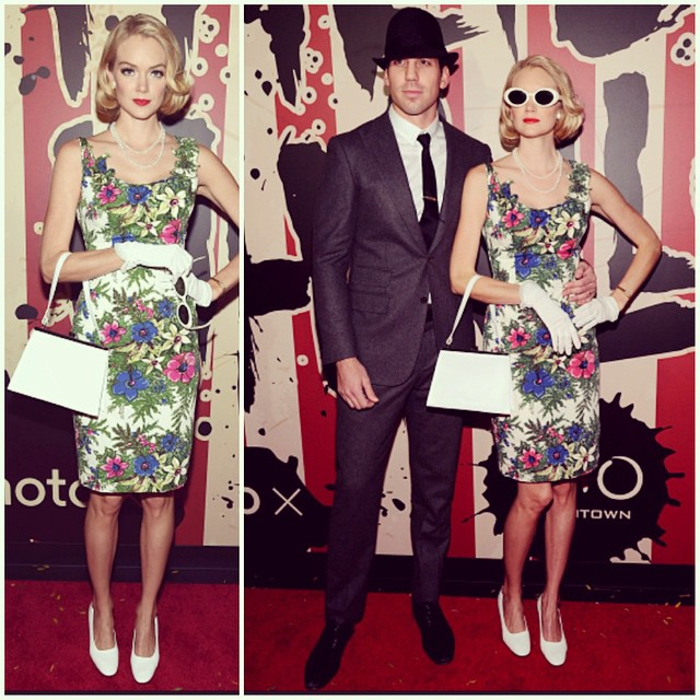 """Lindsay Ellingson and her husband went as the Drapers from """"Mad Men"""""""