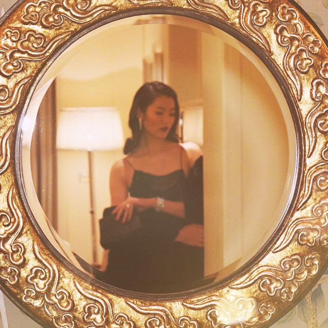 Liu Wen shares a mirror image