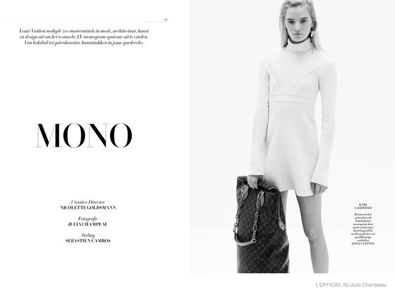 Milena Feurer Models Louis Vuitton Iconoclasts Bags for L'Officiel Netherlands