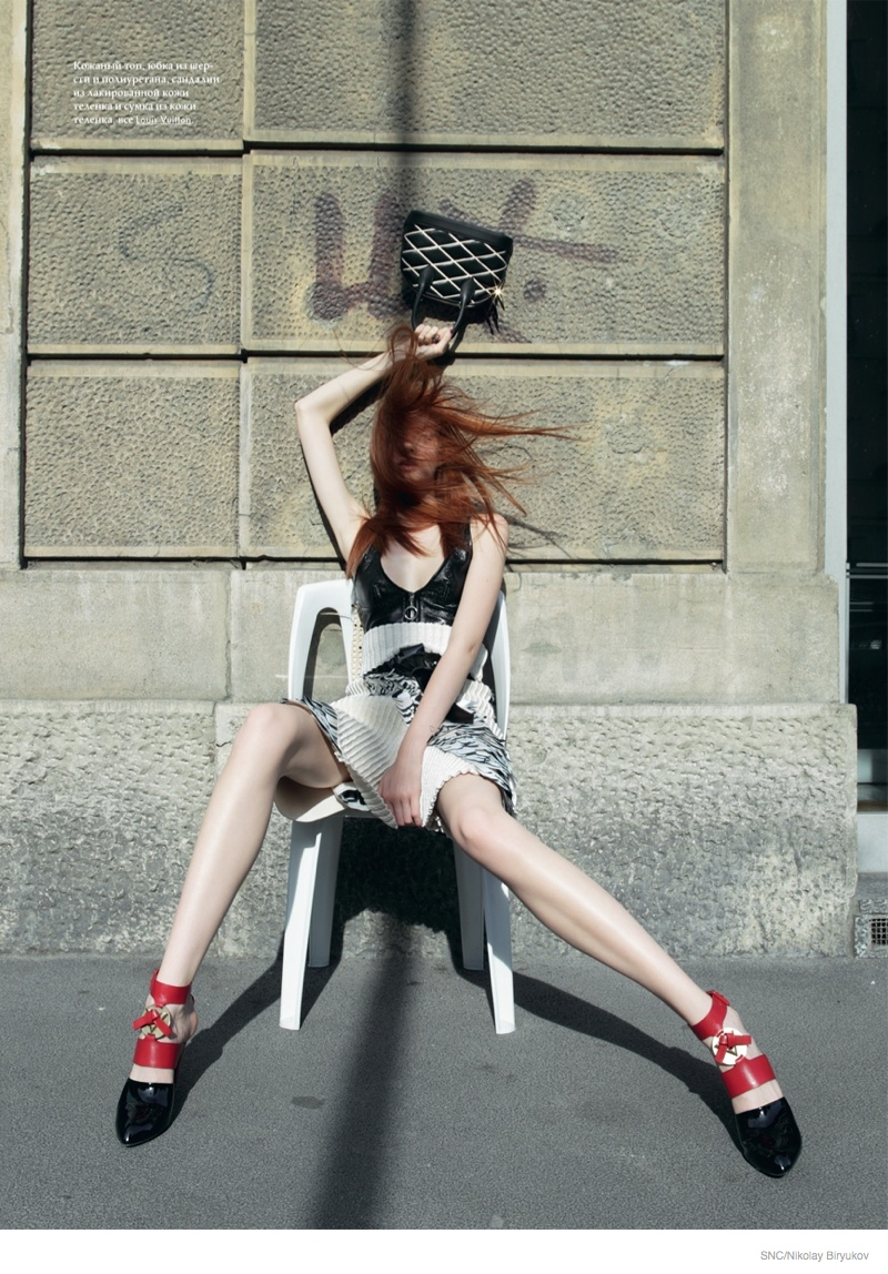 Anastasia Ivanova Models Louis Vuitton for SnC by Nikolay Biryukov