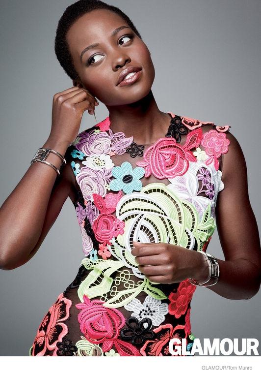 Lupita Nyong'o Stars in Glamour, Talks Facing Colorism