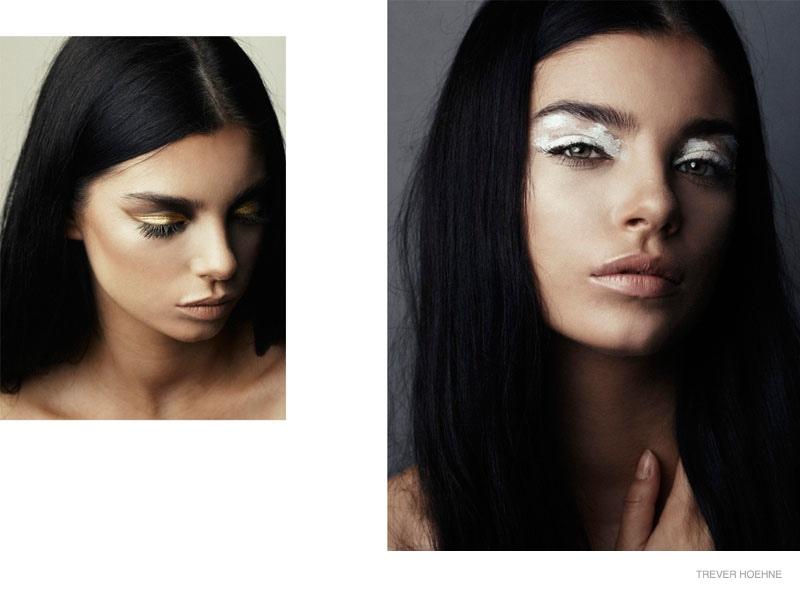 Ruairi Luke Poses in Beauty Shoot by Trever Hoehne