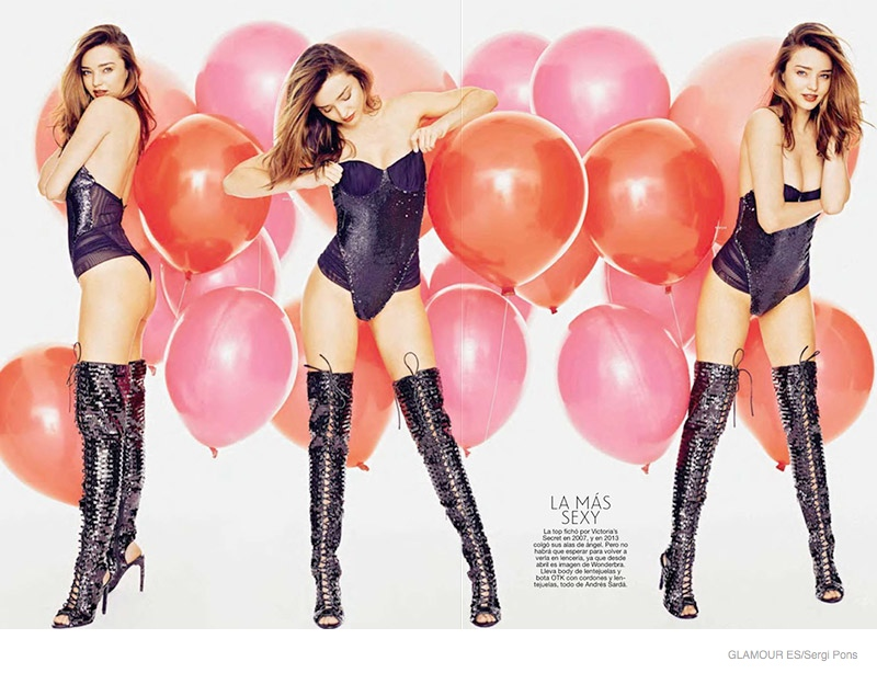 Miranda Kerr Poses with Balloons for Glamour Spain by Sergi Pons